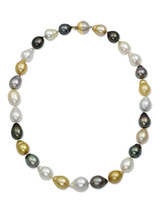 Multicolor South Sea Drop Pearl Necklace