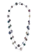 """14KWG Tahitian Cultured Pearl 37"""" Necklace"""