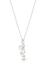 18K White South Sea Keshi Cultured Pearl Pendant