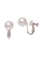 18KWG White South Sea Cultured Pearl Non-Pierced Earrings