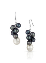 14KWG Mixed South Sea Cultured Pearl Cluster Earrings