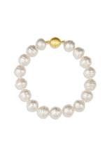 White South Sea Circle Pearl Bracelet