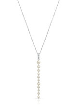 14K Akoya Pearl Pigtail Chain Dangle Pendant