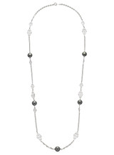 Tahitian Cultured Pearl Sterling Silver Necklace