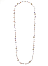 14K Freshwater Cultured Pearl Pink Colorstone Necklace