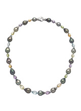 Tahitian Cultured Pearl Colorstone Necklace