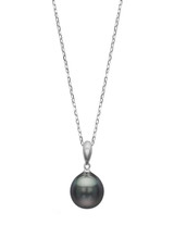 14KWG 9mm Tahitna Pearl Simple Bale Pendant
