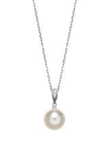14KWG 8mm Akoya Pearl Simple Bale Pendant