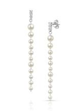 14K Baby Akoya Pearl Long Dangle Earrings
