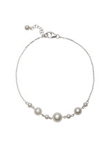 14K Chain Bracelet with Akoya Cultured Pearl
