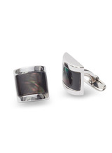 Sterling Silver Cufflinks with Mother of Pearls