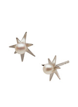 14KWG Baby Akoya Pearl Star Shaped Earrings