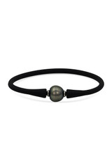 Silicone Bracelet with Tahitian Pearl