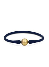 Silicone Bracelet with Golden South Sea Pearl