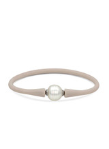 Silicone Bracelet with White South Sea Pearl