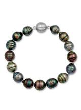 Tahitian Multicolor Circle Pearl Bracelet