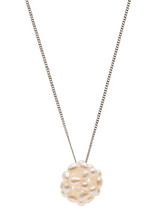 Sterling Silver Rice Ball Freshwater Pearl Pendant