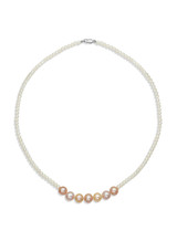 Multicolor Freshwater Cultured Pearl Necklace with Sterling Silver Clasp