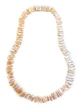Endless Biwa Freshwater Pearls Necklace