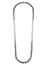 Tahitian and White South Sea Pearl Color Graduation Necklace
