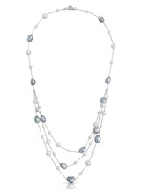 14K Akoya Keshi Cultured Pearl Chain Necklace