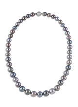 Tahitian Multicolor Pearl Necklace (A-6105THM)