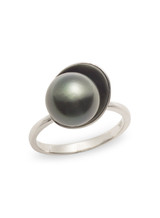 Sterling Silver Tahitian Pearl Ring