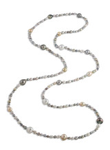 Tahitian with White & Golden South Sea and Keshi Long Necklace