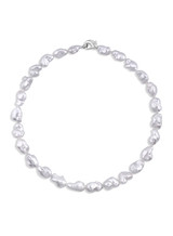 White South Sea Keshi Pearl Necklace