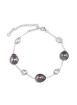 14K Tahitian Keshi Cultured Pearl Chain Bracelet
