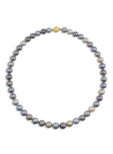 Tahitian Multicolor Round 8.2x10.4mm Pearl Necklace