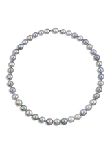 Tahitian Multicolor Pastel Round 8.5x10.9mm Pearl Necklace