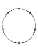 18K Cultured Pearl Necklace With Sterling Silver Clasp