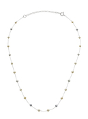 14K Multicolor Akoya Cultured Pearl And Chain Necklace
