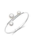 18K South Sea And Akoya Cultured Pearl Bracelet
