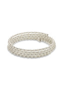 18K WG Baby Akoya Multi-Row Wrap Around Bracelet