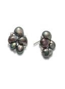 18K Tahitian Keshi Cultured Pearl And Diamond Earrings