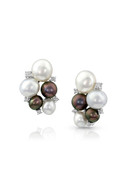 18K Diamond Keshi Pearls Earrings