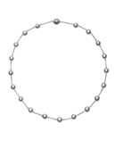 14K Gray Akoya Pearls Chain Necklace