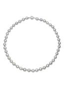 Silver Gray Baroque Akoya Pearl Strand