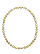 Golden South Sea Drop Pearl Strand