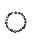 Dark Tahitian Keshi Pearl Bracelet