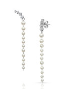 14KWG Baby Akoya Pearl Long Earrings