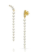 14KYG Baby Akoya Pearl Long Earrings