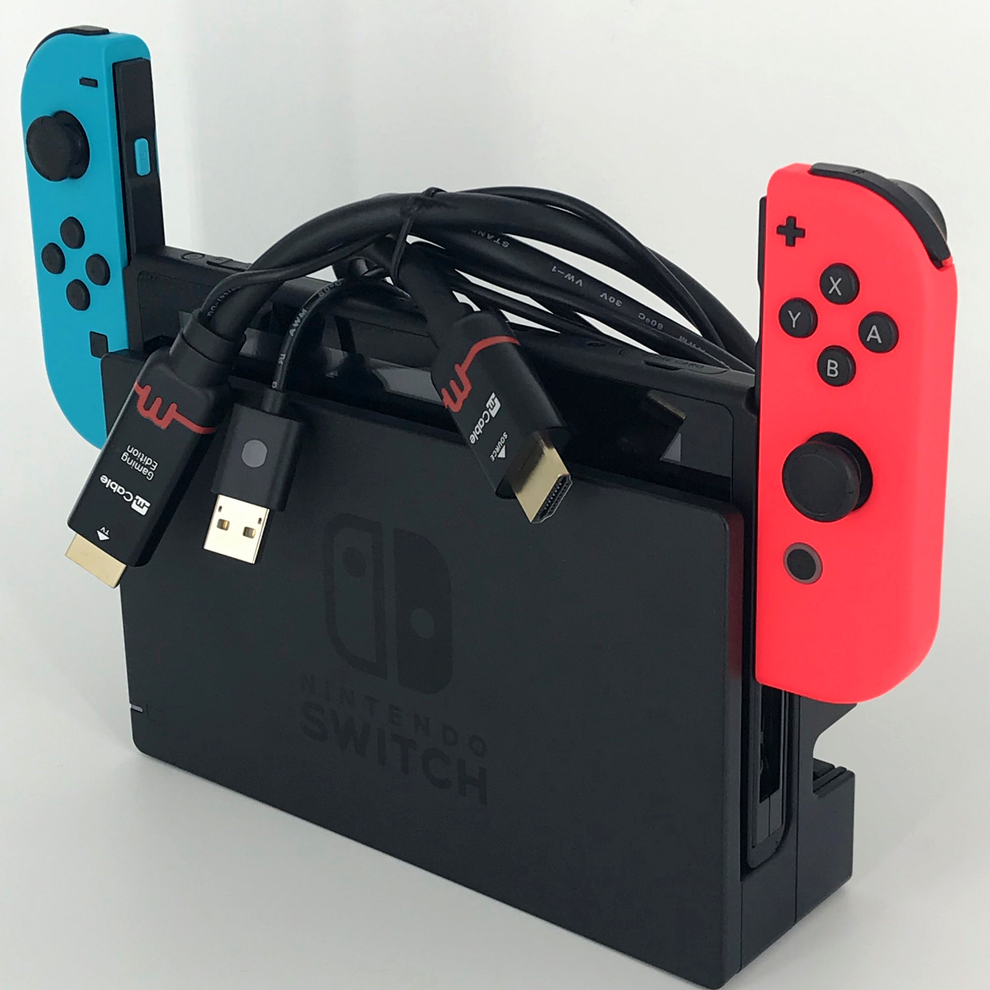 mcable picture with Nintendo Switch console.