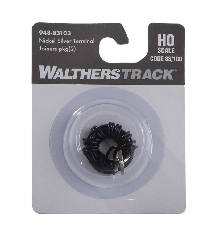 WaltherTrack HO 948-83103 Code 83 or Code 100 Nickel Silver Terminal Rail Joiners (2)