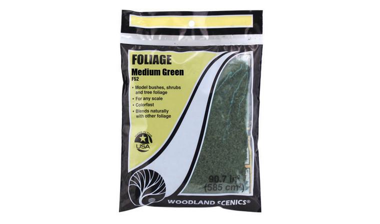 Woodland Scenics F52 Foliage, Medium Green