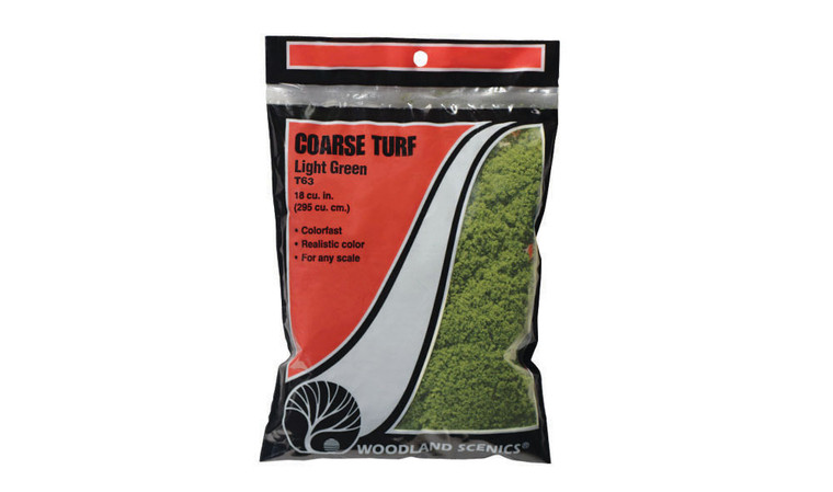 Woodland Scenics T63 Course Turf, Light Green