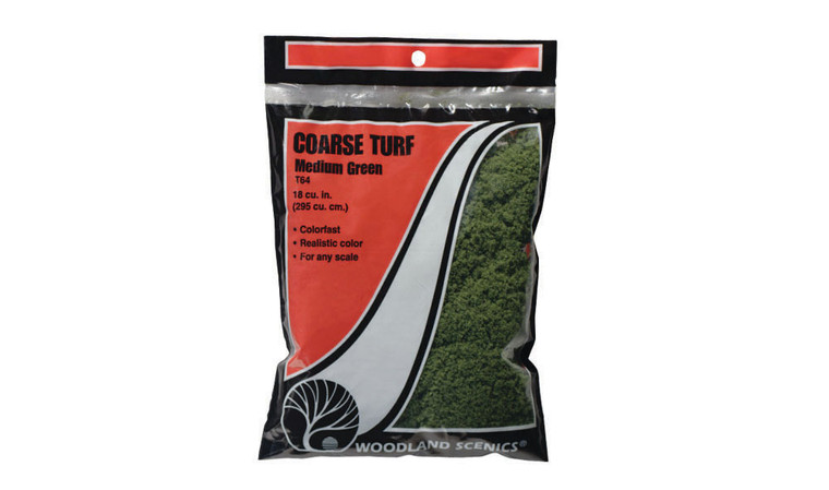 Woodland Scenics T64 Course Turf, Medium Green