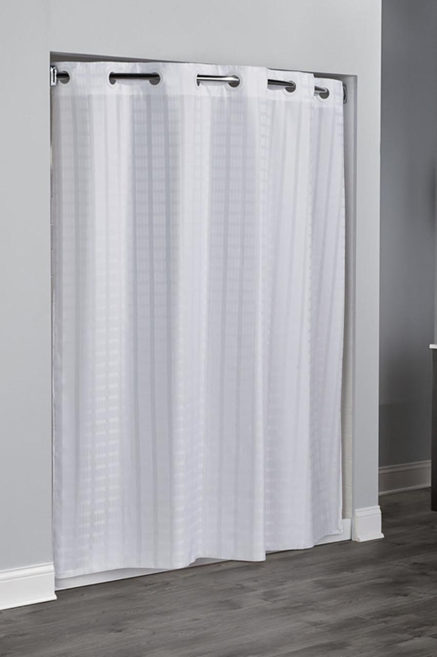Litchfield Hookless Shower Curtain Focus